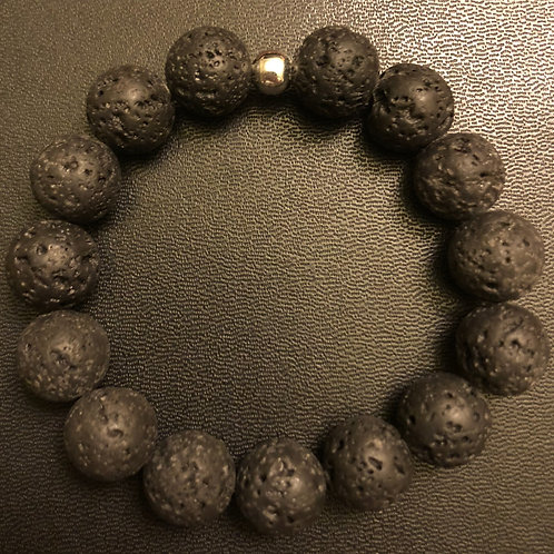 12mm Lava Stone Healing Bracelet