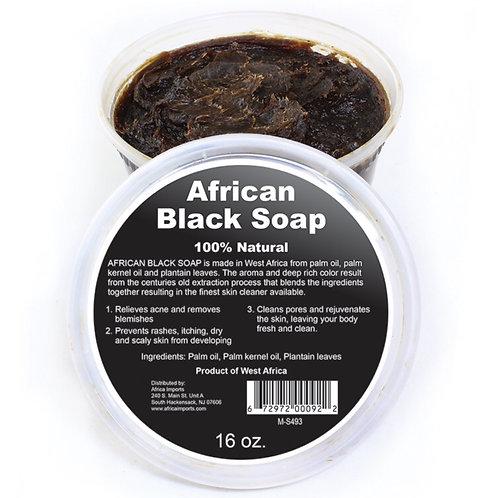 West African Black Soap Paste (16 ounces)
