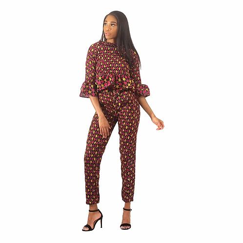 African Print Pant Set