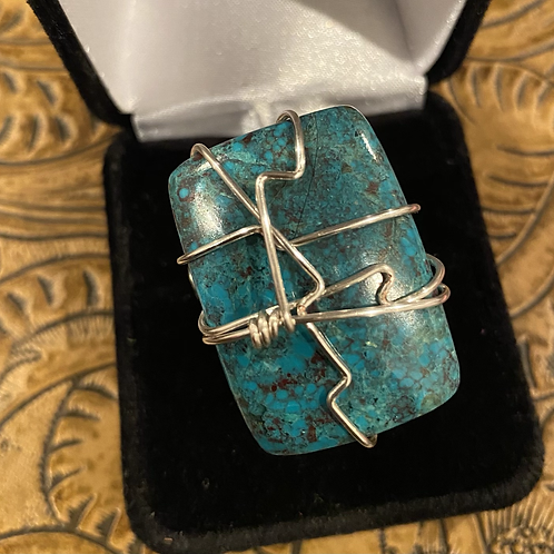 Chrysocolla Wrapped Ring