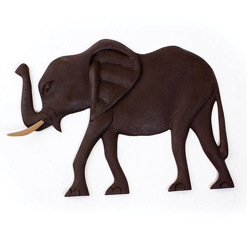 Elephant Wooden Plaque