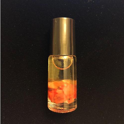 Carnelian and Spearmint Essential Oil Roller Bottle