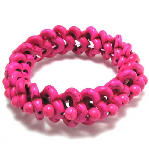 Magenta Turquoise Stretch Bracelet