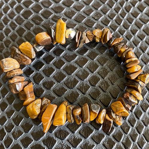 Tiger Eye Chip Healing Bracelet