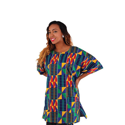 Blue Kente Dashiki (Unisex)