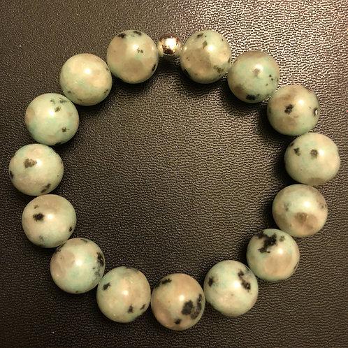 12mm Kiwi Jasper Healing Bracelet