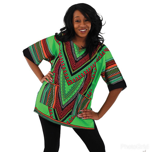 Lime Heart of the Motherland Dashiki