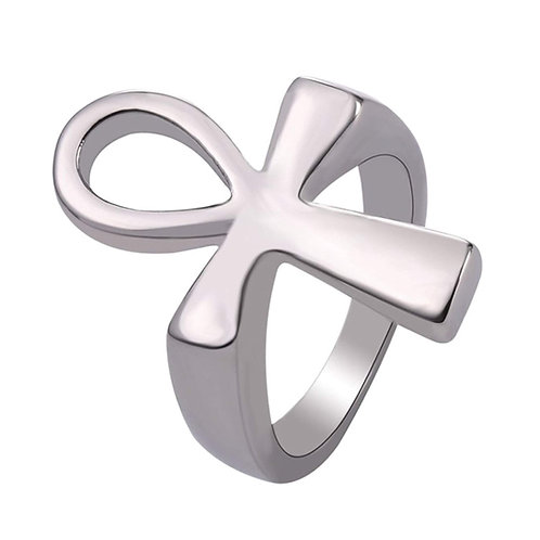 Stainless Steel Ankh Ring