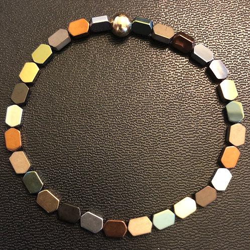 Multi-Colored Hematite Healing Bracelet