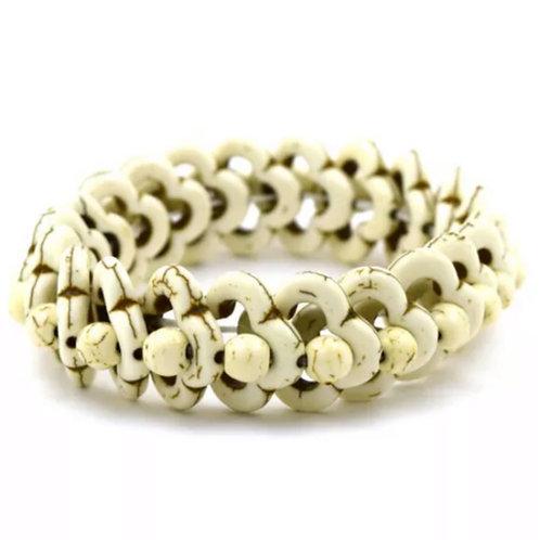 White Turquoise Stretch Bracelet