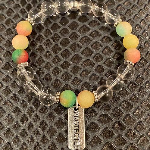 Protected Clear Quartz & Matte Quartzite Healing Bracelet