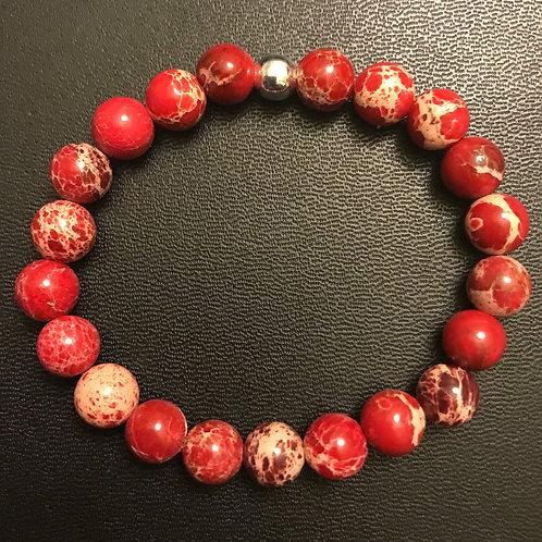 Red Sea Sediment Jasper Healing Bracelet