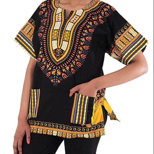 Black & Yellow Traditional Dashiki