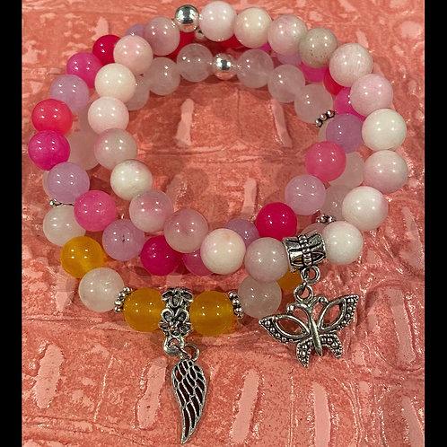 Butterfly & Angel Wing Healing Bracelet Set