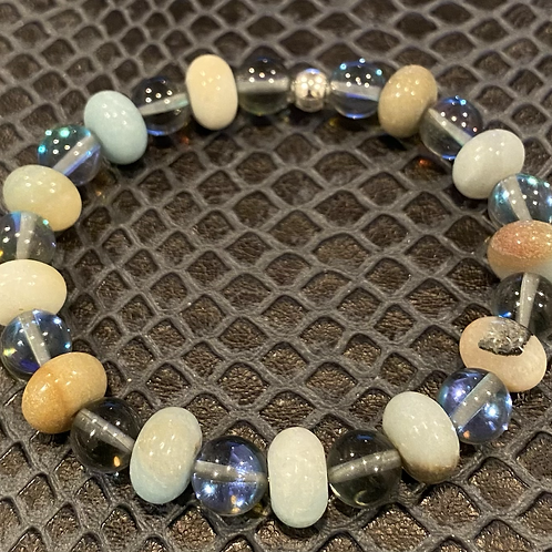 Mystic Aura Quartz & Amazonite Healing Bracelet