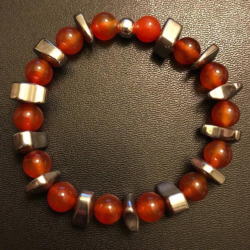Carnelian and Hematite Healing Bracelet