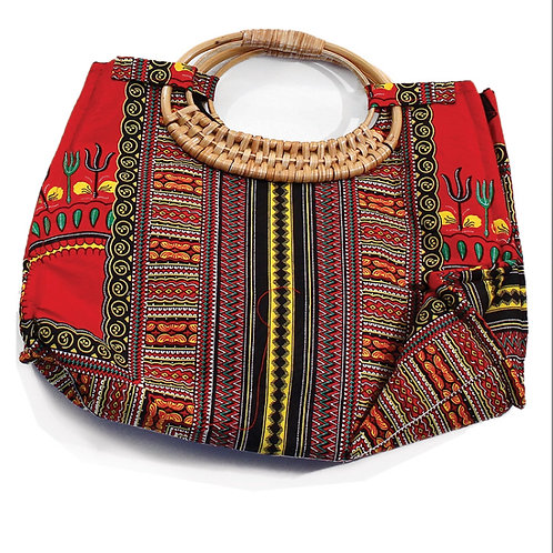 Red Tribal Print Bag