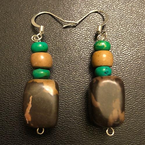 Jasper and Howlite Earrings