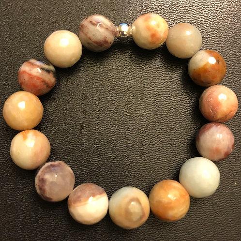 12mm Faceted Amazonite Healing Bracelet