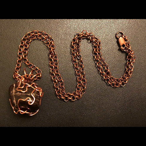 Garnet and Copper Necklace