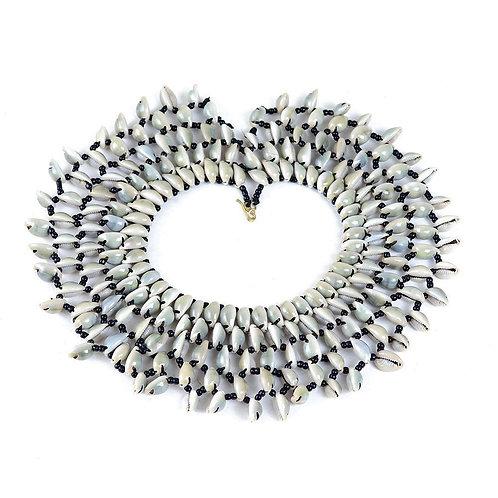 Kenyan Cowrie Collar Necklace