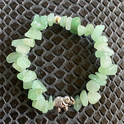 Aventurine Chip Elephant Healing Bracelet