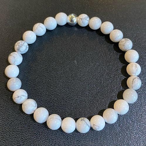 White Howlite Healing Bracelet