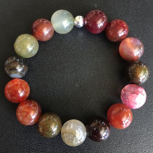 12mm Agate Healing Bracelet