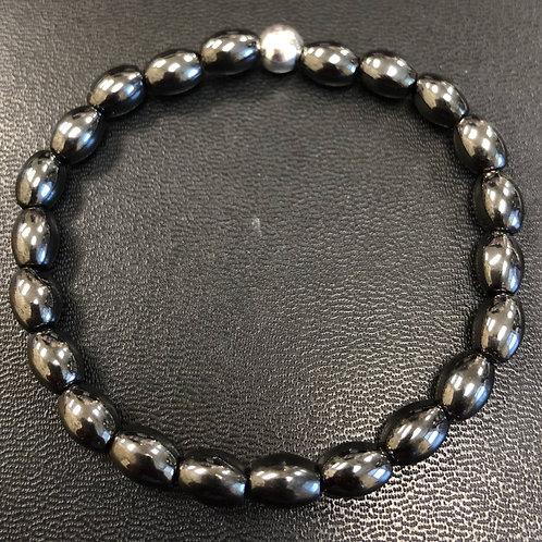 Hematite Barrels Healing Bracelet