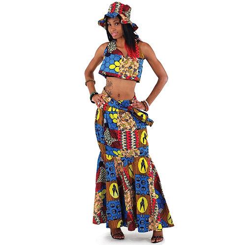 African Skirt Set 1