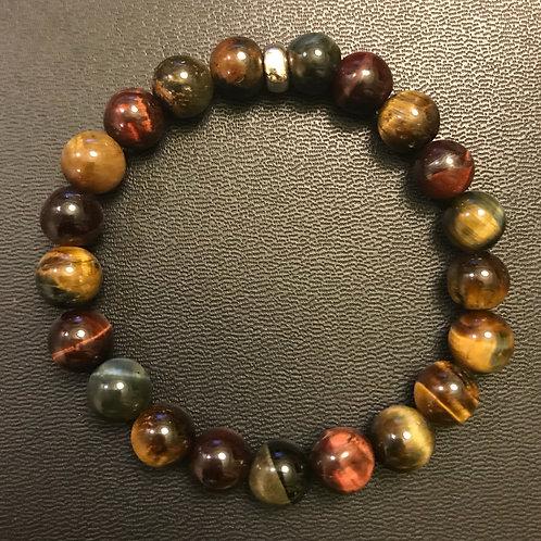 Multi-Colored Tiger Eye Healing Bracelet