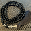 Thumbnail: Black Agate 108 Mala Bead Necklace