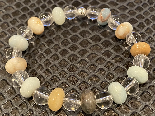 Clear Quartz & Amazonite Healing Bracelet