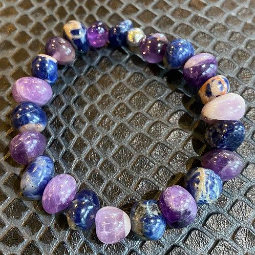 Amethyst & Sodalite Nugget Healing Bracelet