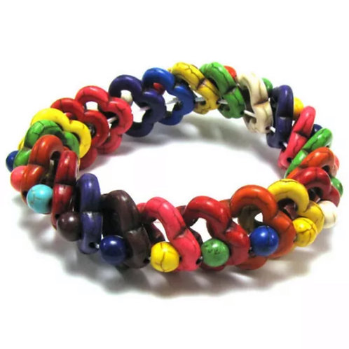 Multicolored Turquoise Stretch Bracelet