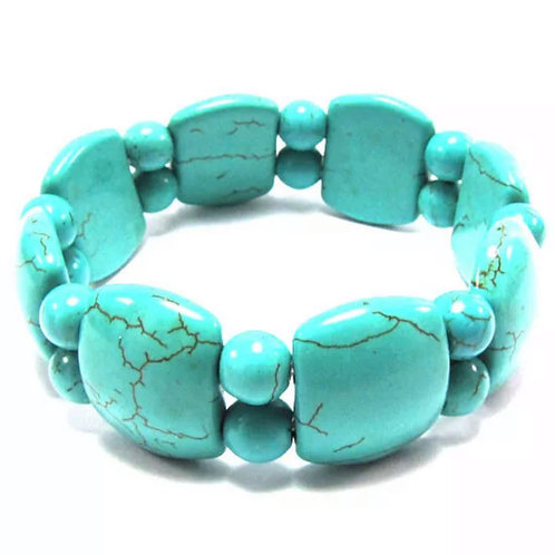 Blue Turquoise Stretch Bracelet