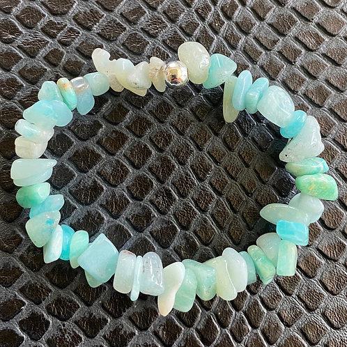 Amazonite Chip Healing Bracelet