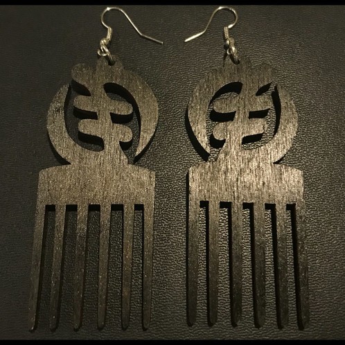 Gye Nyame Pick Earrings