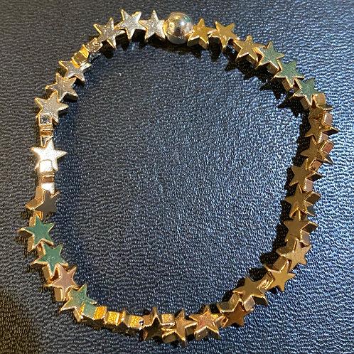 Golden Stars Hematite Healing Bracelet