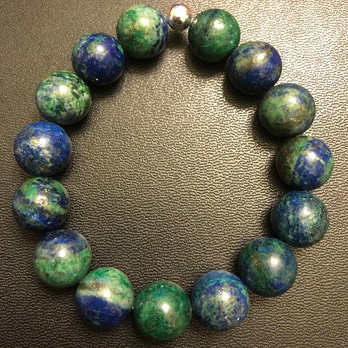 12mm Chrysocolla Healing Bracelet