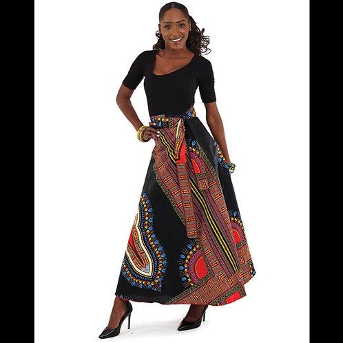 Black Traditional Wrap Skirt