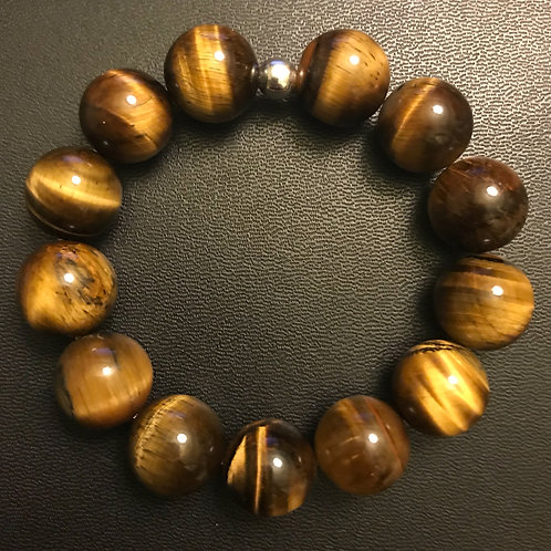 14mm Tiger Eye Healing Bracelet