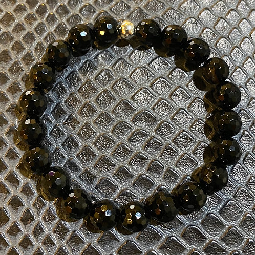 Faceted Onyx Healing Bracelet