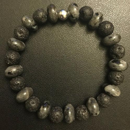 Labradorite & Lava Stone Healing Bracelet