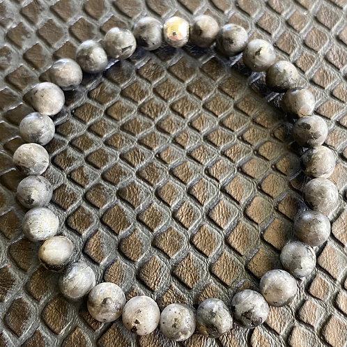 6mm Matte Labradorite Healing Bracelet
