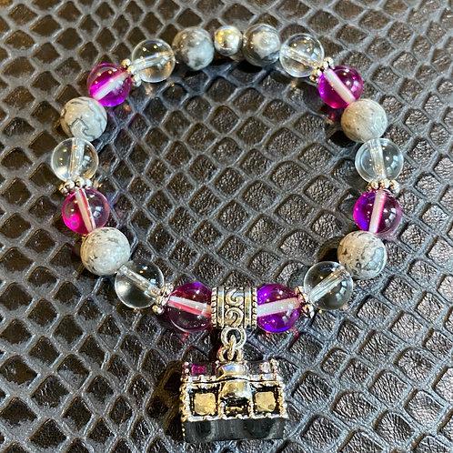 Quartz & Jasper Treasure Chest Healing Bracelet