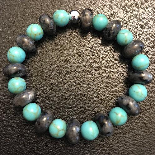Turquoise and Labradorite Healing Bracelet