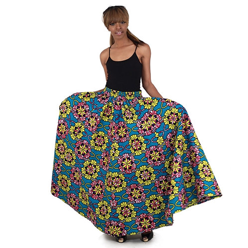 Floral African Skirt