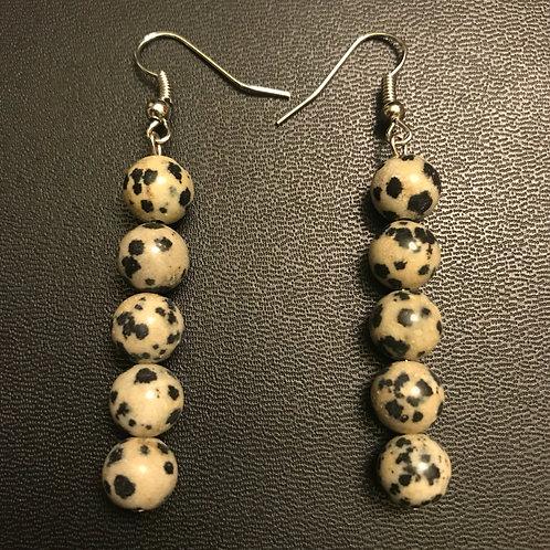 Dalmation Jasper Drop Earrings