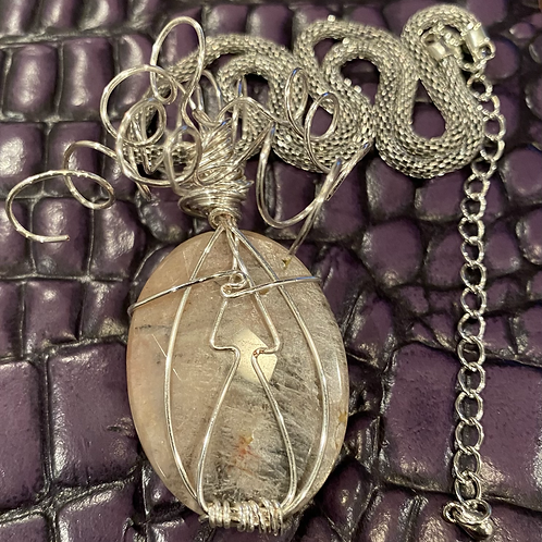 Sunstone Wrapped Necklace